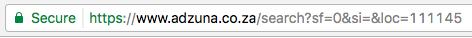 Hacking job website search URL